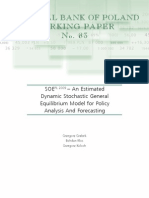 An Estimated Dynamic Stochastic General Equilibrium Model for Policy Analysis and Forecasting