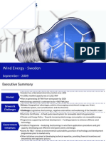 Market Research Sweden - Wind Energy Market in Sweden 2009