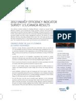 2012 Energy Efficiency Indicator Survey