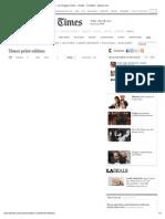 Print Edition -- Los Angeles Times -- Kindle -- E-Edition - Latimes