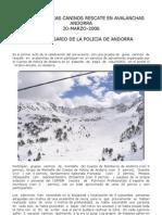 Exhibicion Guias Caninos Rescate en Avalanchas Andorra