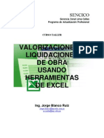 Valorizaciones y Liquidaciones de Obra Con Herramientas de Excel