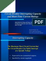 Circuit Breaker Interrupting Capacity Short Time Current Ratings