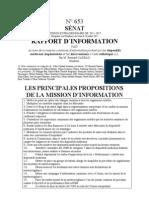 Mission sénatoriale DMI et esthétique 38 Propositions