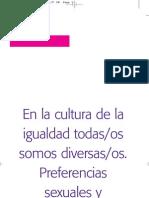 Textos del caracol. 3. En la cultura de la igualdad todas/os somos diversas/os. Preferencias sexuales y discriminación.