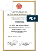 Certificado- Aterramiento Electrico