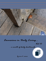 Excursions in daily living - bible devotionals