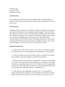 In Between Days by Andrew Porter: Reading Group Guide