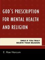 God's Prescription for Mental Health and Religion