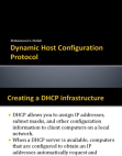 Lesson 6: Dynamic Host Configuration Protocol DHCP (Part1) Free download PDF and Read online
