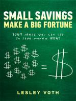 Small Savings Make a Big Fortune