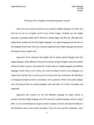 Sociology Profile Of An Exotic Dancer Term Paper  English As A  Global Language English Essay About Money