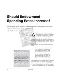 Should Endowment Spending Rates Increase?