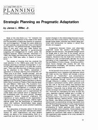 Strategic Planning as Pragmatic Adaptation
