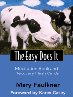 Easy Does It Meditation Book and Recovery Flash Cards