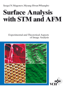 Surface Analysis with STM and AFM: Experimental and Theoretical Aspects of Image Analysis
