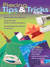 Piecing Tips & Tricks Tool: Piece Like the Experts, Easy-to-Use Color-Coded Sections, Everything You Need to Know!