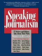 Speaking of Journalism