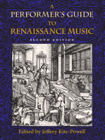 A Performer's Guide to Renaissance Music, Second Edition