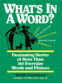 What's In a Word?: Fascinating Stories of More Than 350 Everyday Words and Phrases