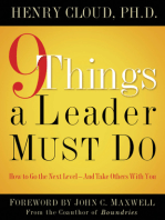 9 Things a Leader Must Do