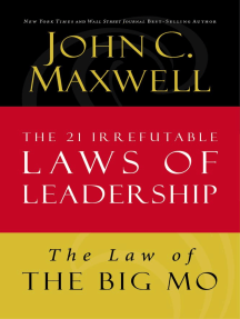 The Law of The Big Mo: Lesson 16 from The 21 Irrefutable Laws of Leadership