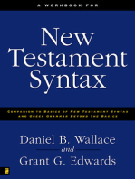 A Workbook for New Testament Syntax
