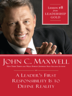 A Leader's First Responsibility Is to Define Reality