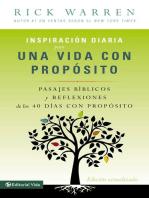 Inspiración diaria para una vida con propósito: Versículos bíblicos y reflexiones de los 40 días con propósito de Rick Warren