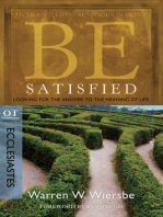 Be Satisfied (Ecclesiastes)