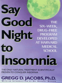 Say Good Night to Insomnia by Gregg D  Jacobs and Herbert Benson - Read  Online