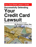Successfully Defending Your Credit Card Lawsuit