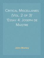 Critical Miscellanies (Vol. 2 of 3) Essay 4