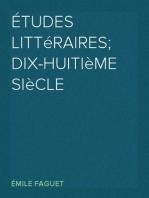 Études Littéraires; dix-huitième siècle