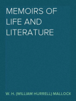 Memoirs of Life and Literature