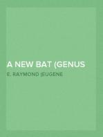 A New Bat (Genus Myotis) From Mexico