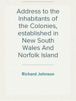 Address to the Inhabitants of the Colonies, established in New South Wales And Norfolk Island