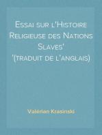 Essai sur l'Histoire Religieuse des Nations Slaves (traduit de l'anglais)