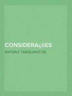 Considerações sobre a Philosophia da Historia Litteraria Portugueza
