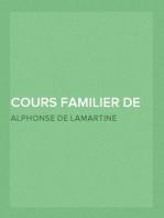 Cours Familier de Littérature (Volume 15) Un entretien par mois