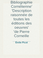Bibliographie Cornélienne Description raisonnée de toutes les éditions des oeuvres de Pierre Corneille
