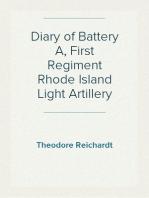 Diary of Battery A, First Regiment Rhode Island Light Artillery