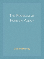 The Problem of Foreign Policy