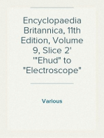 "Encyclopaedia Britannica, 11th Edition, Volume 9, Slice 2 ""Ehud"" to ""Electroscope"""