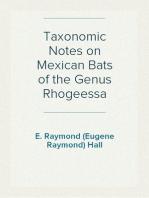 Taxonomic Notes on Mexican Bats of the Genus Rhogeessa