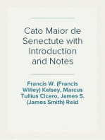 Cato Maior de Senectute with Introduction and Notes