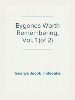Bygones Worth Remembering, Vol. 1 (of 2)