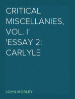 Critical Miscellanies, Vol. I Essay 2