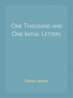 One Thousand and One Initial Letters