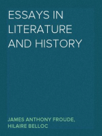 Essays in Literature and History
